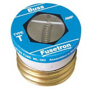 Bussmann T-10 Time-Delay Plug Fuse; 10 Amp, 125 Volt AC