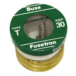 Bussmann T-30 Time-Delay Plug Fuse; 30 Amp, 125 Volt AC