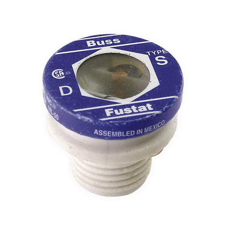 Bussmann S-1-1/4 Time-Delay Plug Fuse; 1-1/4 Amp, 125 Volt AC