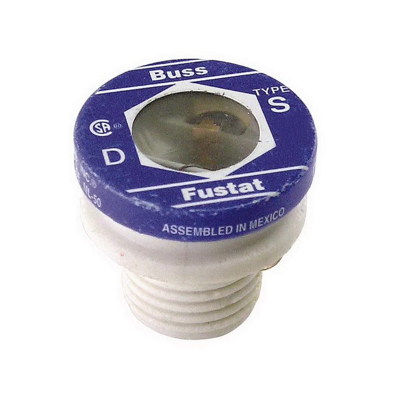 Bussmann S-6-1/4 Time-Delay Plug Fuse; 6-1/4 Amp, 125 Volt AC