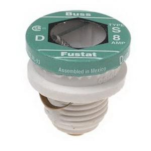 Bussmann S-8 Time-Delay Plug Fuse; 8 Amp, 125 Volt AC