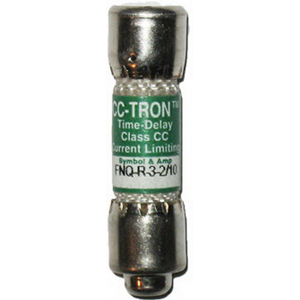 Bussmann FNQ-R-3-2/10 CC-Tron® Limitron™ Class CC Time-Delay Fuse; 3-2/10 Amp, 600 Volt ACLimitron® Class CC FNQ-R Time-Delay Fuse; Rejection-Type Fuse, 3-2/10 Amp, 600 Volt ACLimitron® Class CC FNQ-R Time-Delay Fuse; Rejection-Type Fuse