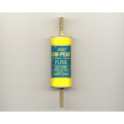 Bussmann LPJ-70SP Low-Peak® Class J Time-Delay Blade Fuse; 70 Amp, 600 Volt AC/300 Volt DC