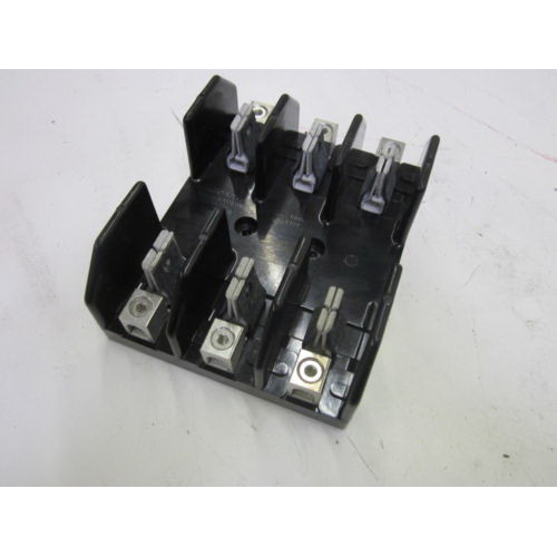 Bussmann J60100-3CR J600 Series Fuse Block; 61 - 100 Amp, 600 Volt, DIN-Rail Mounting