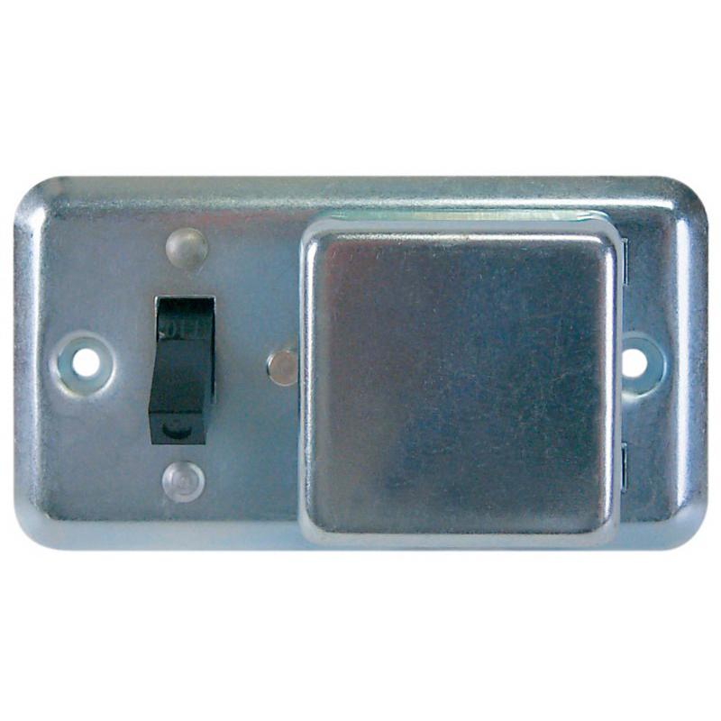 Bussmann SSU Handy Box Cover Unit With Switch Control; 15 Amp, 125 Volt AC