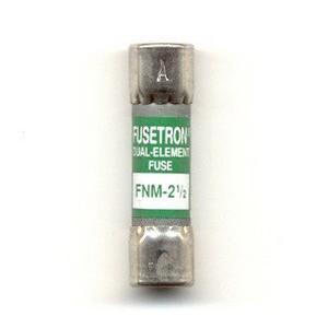 Bussmann FNM-2-1/2 Fusetron® Midget Time-Delay Fuse; 2-1/2 Amp, 250 Volt AC