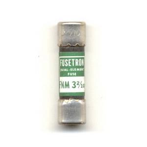 Bussmann FNM-3-2/10 Fusetron® Midget Time-Delay Fuse; 3-2/10 Amp, 250 Volt AC