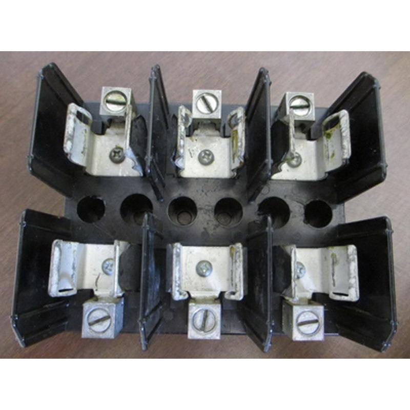 Bussmann J60060-3CR J600 Series Fuse Block; 31 - 60 Amp, 600 Volt, DIN-Rail Mounting
