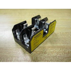 Bussmann BC6032SQ BC Series Fuse Block; 1/10 - 30 Amp, 600 Volt, DIN-Rail Mounting