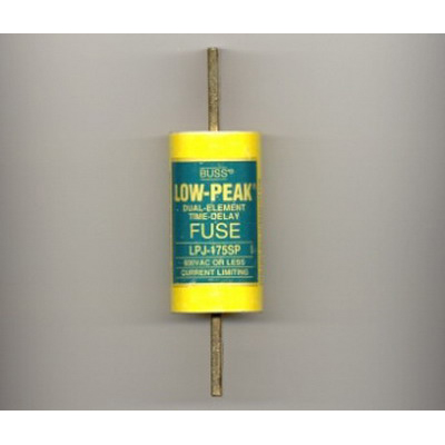 Bussmann LPJ-175SP Low-Peak® Class J Time-Delay Blade Fuse; 175 Amp, 600 Volt AC/300 Volt DC