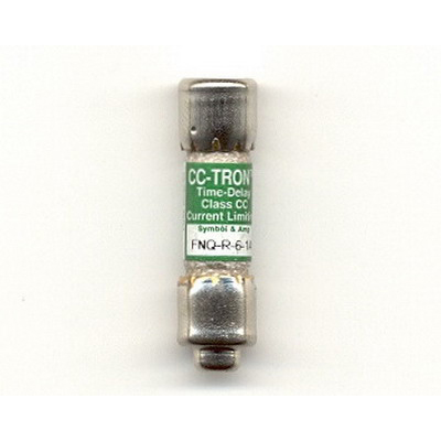 Bussmann FNQ-R-6-1/4 Limitron® Class CC FNQ-R Time-Delay Fuse; Rejection-Type Fuse, 6-1/4 Amp, 600 Volt AC