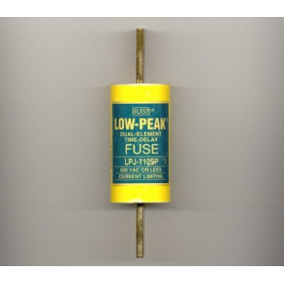 Bussmann LPJ-110SP Low-Peak® Class J Time-Delay Blade Fuse; 110 Amp, 600 Volt AC/300 Volt DC
