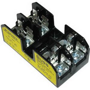 Bussmann BC6032PQ BC Series Fuse Block; 1/10 - 30 Amp, 600 Volt, DIN-Rail Mounting