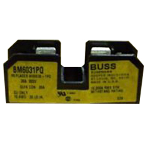 Bussmann BM6031PQ BM Series Supplementary Fuse Block; 1/10 - 30 Amp, 600 Volt AC, DIN-Rail Mounting