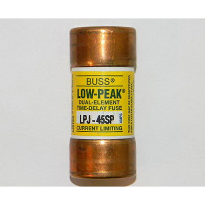 Bussmann LPJ-45SP Low-Peak® Class J Time-Delay Fuse; 45 Amp, 600 Volt AC/300 Volt DC