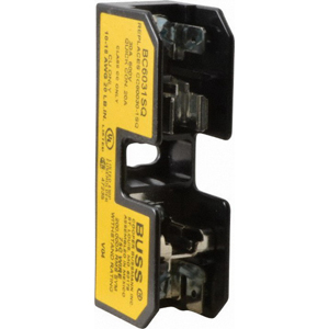 Bussmann BC6031SQ BC Series Fuse Block; 1/10 - 30 Amp, 600 Volt, DIN-Rail Mounting