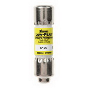 Bussmann LP-CC-6 Low-Peak® Class CC Time-Delay Fuse; 6 Amp, 600 Volt AC/150 Volt DC