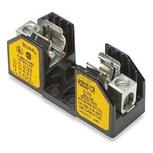 Bussmann H25030-1CR H250 Series Fuse Block; 1/10 - 30 Amp, 250 Volt, DIN-Rail Mounting