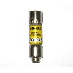 Bussmann LP-CC-7-1/2 Low-Peak® Class CC Time-Delay Fuse; 7-1/2 Amp, 600 Volt AC/150 Volt DC