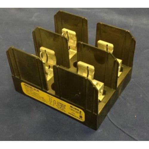 Bussmann J60030-2CR J600 Series Fuse Block; 1/2 - 30 Amp, 600 Volt, DIN-Rail Mounting