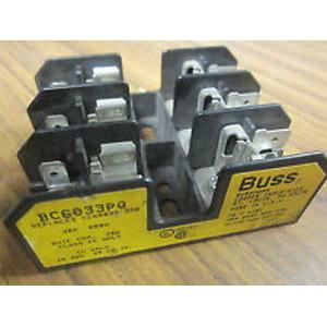 Bussmann BC6033PQ BC Series Fuse Block; 1/10 - 30 Amp, 600 Volt, DIN-Rail Mounting