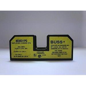 Bussmann BC6031PQ BC Series Fuse Block; 1/10 - 30 Amp, 600 Volt, DIN-Rail Mounting
