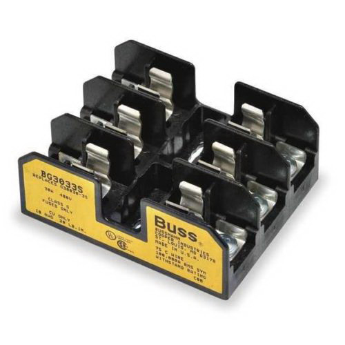 Bussmann BG3033S BG Series Fuse Block; 25 - 30 Amp, 480 Volt, DIN-Rail Mounting