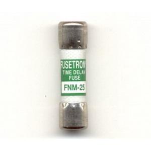 Bussmann FNM-25 Fusetron® CC-Tron® Midget Time-Delay Fuse; 25 Amp, 250 Volt AC