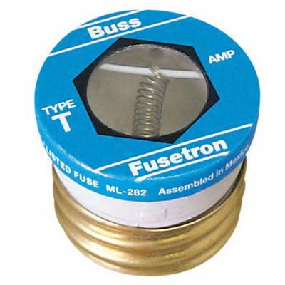 Bussmann T-1-6/10 Fusetron® Time-Delay Plug Fuse; 1-6/10 Amp, 125 Volt AC