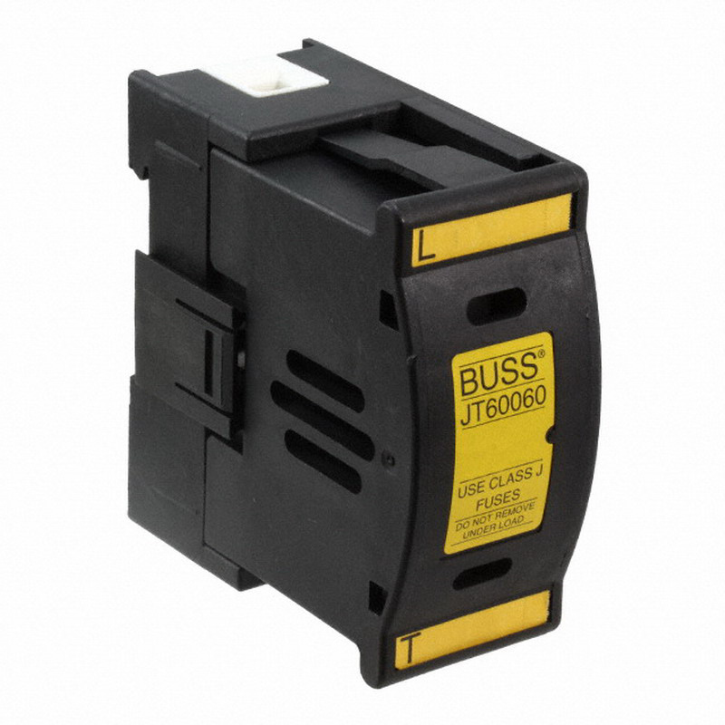 Bussmann JT60060 Fuse Holder; 60 Amp, 600 Volt AC/DC, 35 mm DIN-Rail Mounting