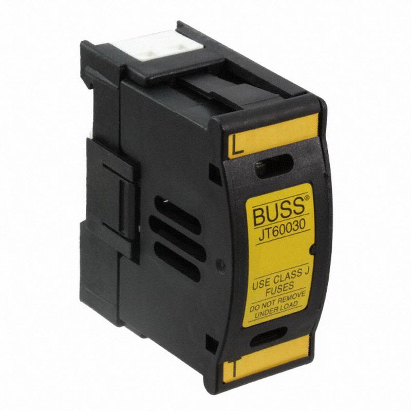 Bussmann JT60030 Touchsafe Holder Fuse Holder; 30 Amp, 600 Volt AC/DC, 35 mm DIN-Rail Mounting