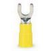 3M MV10-10FK Scotchlok™ Vinyl Insulated Fork Terminal; 12-10 AWG, #10 Stud, Yellow, 500/BX