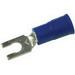 3M MV14-8FLK Scotchlok™ Vinyl Insulated Locking Fork Terminal; 16-14 AWG, #8 Stud, Blue, 1000/BX