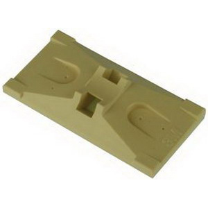 3M 06290 Cable Tie Base; 1 Inch x 2 Inch x 0.310 Inch, Adhesive Mount, ABS, Ivory, 100/Bag