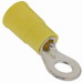 3M MVU10-10RK Scotchlok™ Standard Vinyl Insulated Ring Terminal; 12-10 AWG, #10 Stud, ETP Copper, Yellow, 500/BX