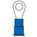 3M MV14-10R/LK Scotchlok™ Standard Vinyl Insulated Ring Terminal; 16-14 AWG, #10 Stud, ETP Copper, Blue, 1000/BX