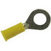 3M MV10-14R/SK Scotchlok™ Standard Vinyl Insulated Ring Terminal; 12-10 AWG, 1/4 Inch Stud, ETP Copper, Yellow, 500/BX