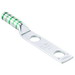 Panduit LCC600-12-6 Standard Straight Tongue Compression Lug; 2 Hole, 1/2 Inch Stud, 600 KCMIL, Green
