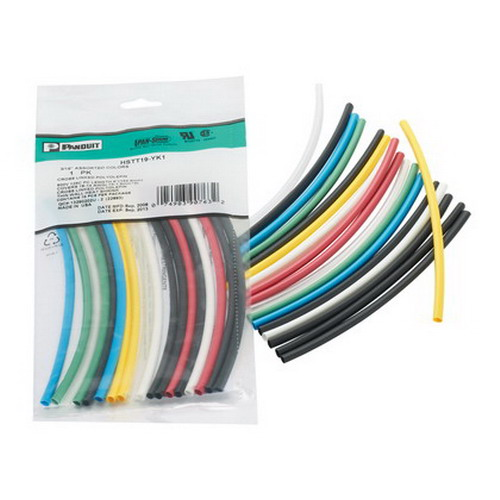 Panduit HSTT50-YK1 2:1 Ratio Thin Wall 6 Inch Pieces Heat Shrink Tubing; 0.500 Inch x 6 Inch, Black
