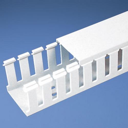 Panduit G3X4WH6 Wiring Duct; 6 ft x 3.250 Inch x 4.100 Inch, Lead-Free PVC, White