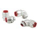 AFC Cable LI9200 Insulated 90 Degree Liquidtight Flexible Fitting; 2 Inch, Malleable Iron