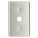 Leviton 84037-40 S730-GN Standard Size 1-Gang Telephone/Cable Wallplate; Strap Mount, 302 Stainless Steel, Brushed Stainless Steel