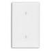 Leviton 80719 1-Gang Blank Wallplate; Strap Mount, Thermoplastic Nylon, Brown