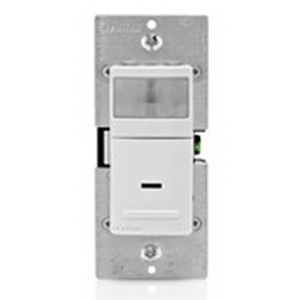 Leviton IPS05-1LZ Decora® Wall Box Mount Passive Infrared Occupancy Sensor; 120 Volt AC, 900 Sq ft, Automatic ON/OFF, White/Ivory/Light Almond