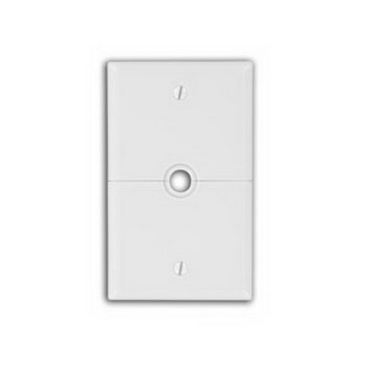 Leviton N751-W Sectional Combination 1-Gang Telephone/Cable Split Wallplate; Box Mount, Thermoplastic Nylon, White