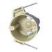 Allied Moulded 9335-NC2 FiberglassBox™ Round Outlet Box; 3-1/2 Inch Dia x 2-7/8 Inch Depth, Thermoset-Fiberglass, 20.5 Cubic-Inch, Beige/Tan