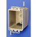 Allied Moulded 9363-EWK 1-Gang Switch/Receptacle Outlet Box; 2-7/8 Inch Depth, Thermoset-Fiberglass Reinforced Polyester, 16 Cubic-Inch, Beige/Tan