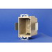 Allied Moulded 9331-ESK 1-Gang Switch/Receptacle Outlet Box; 2-1/2 Inch Depth, Thermoset-Fiberglass Reinforced Polyester, 14 Cubic-Inch, Beige/Tan