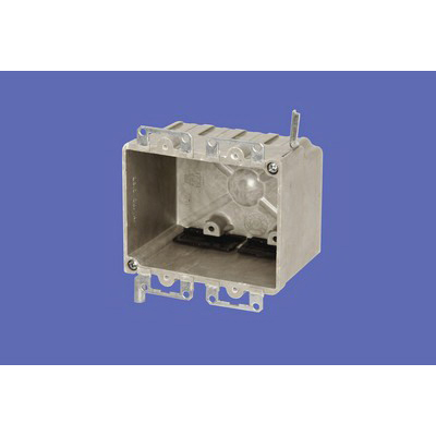 Allied Moulded 9312-EWK 2-Gang Switch/Outlet Box; 2-3/4 Inch Depth, Thermoset-Fiberglass Reinforced Polyester, 28 Cubic-Inch, Beige/Tan