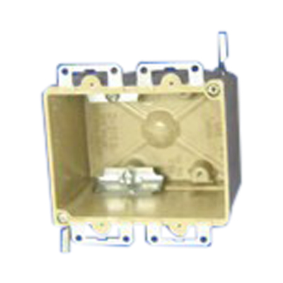 Allied Moulded 9312-EWC2 2-Gang Switch/Outlet Box; 2-3/4 Inch Depth, Thermoset-Fiberglass Reinforced Polyester, 28 Cubic-Inch, Beige/Tan